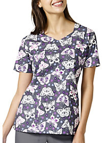 Butterfly Glen Print Top