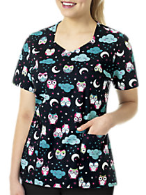 Nocturnal Friends Print Top