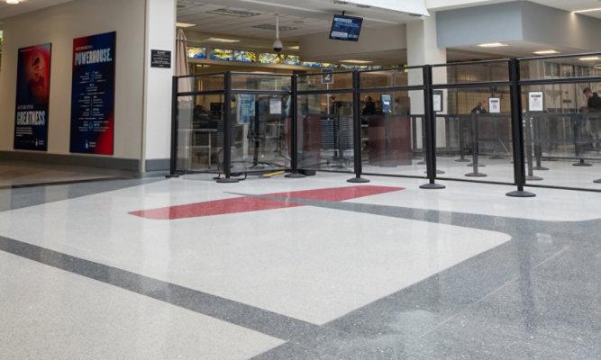 Terrazzo Floor at Dayton International Airport