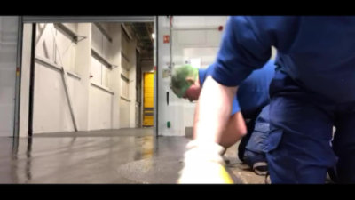Application of Resuthane RS69 Resin Floor Screed
