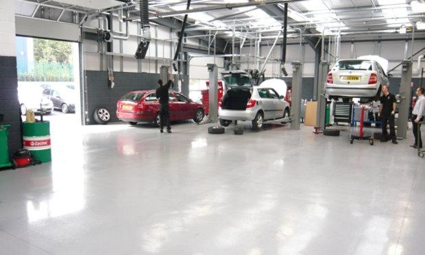 Resinous Floor in Automotive Garage