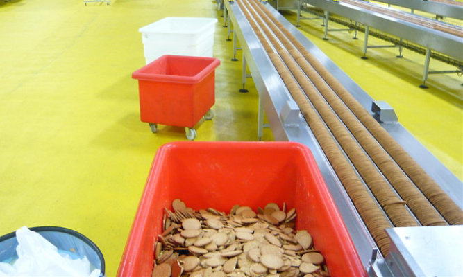 Dry or wet food production and preparation environment