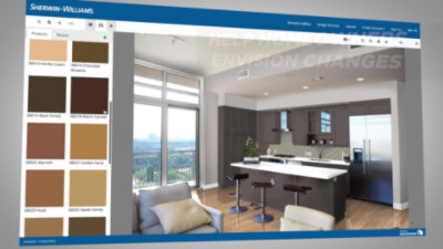 Video Showcasing Sherwin-Williams Color Express Visualizer for Kitchen Cabinets