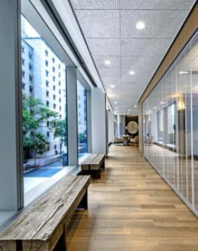 wood floor office