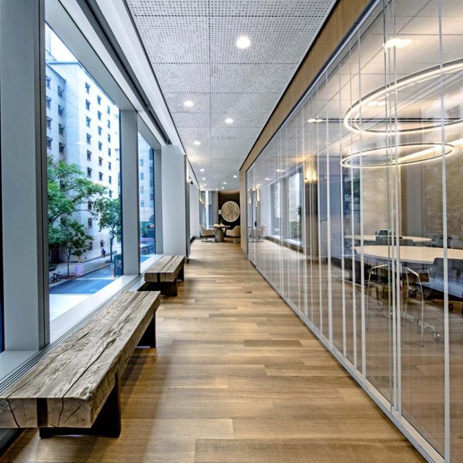 wood floor hallway