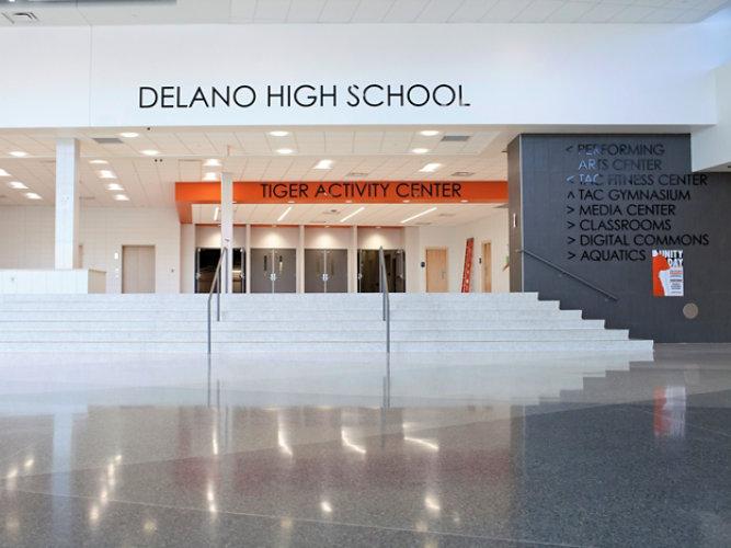Terrazzo Floor in Delano High School
