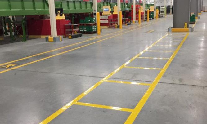 Ocado line marking