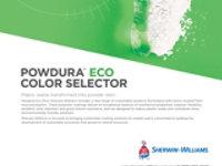 Tarjeta de color de muestra de Powdura Eco