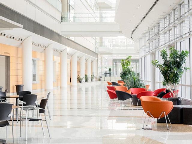 Resin Floor in Lobby