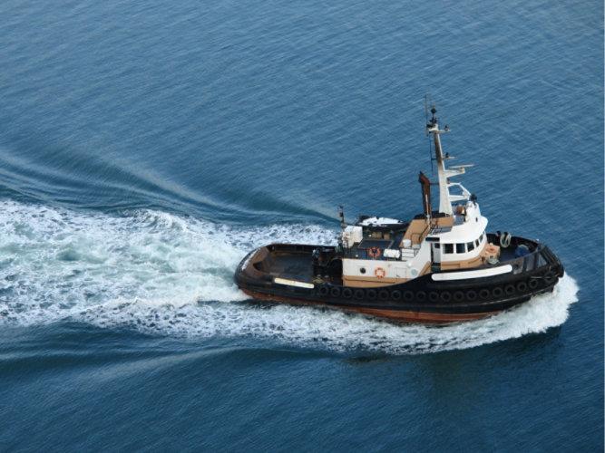 An inland tugboat