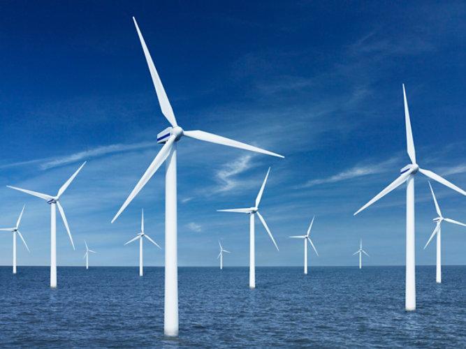 Wind turbines in the water
