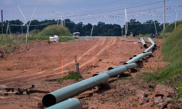 oil and gas pipeline on the ground