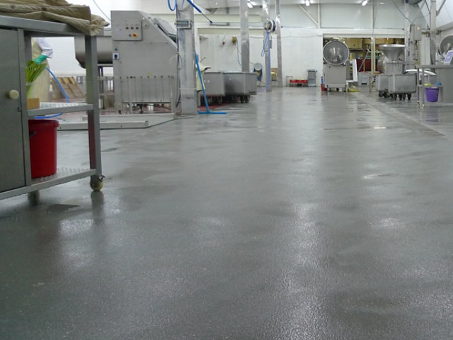 Resin Floor in Food Processing Facility