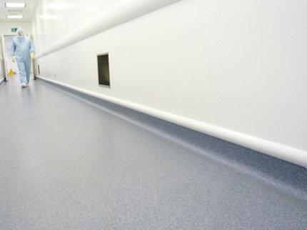 decorative resin floor in hospital