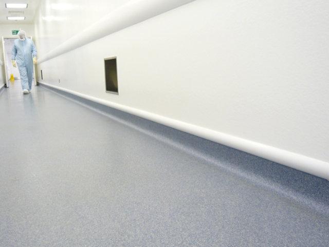 decorative resinous floor in hospital