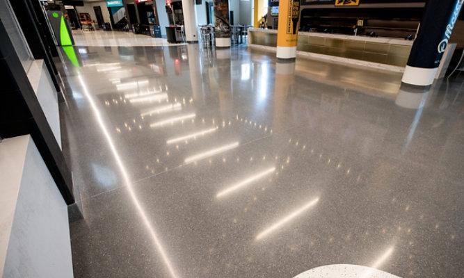 An installed Terrazzo floor