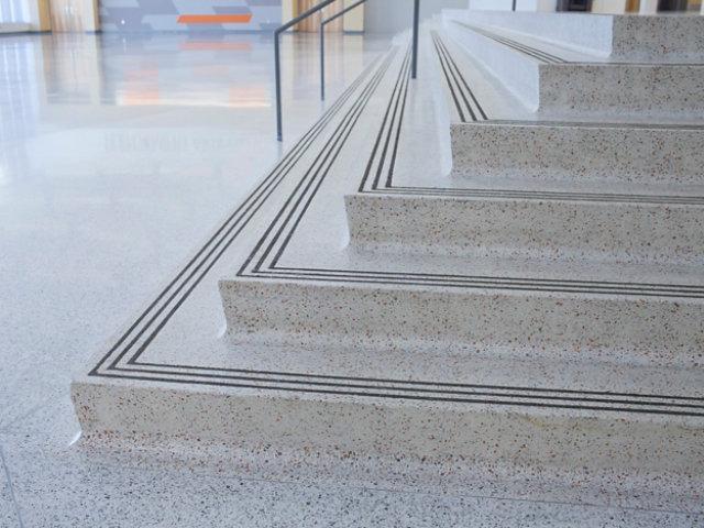 Terrazzo Stairs in High School Lobby