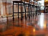 Metallic Resin Floor in Restaurant