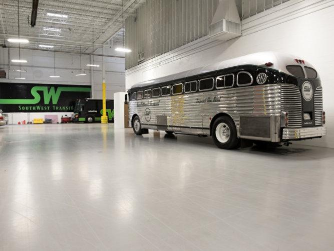 Resinous Flooring System in SouthWest Transit Bus Garage