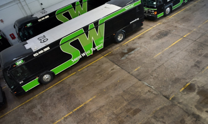 Troweled Mortar Flooring at SouthWest Transit - Before Floor was Applied