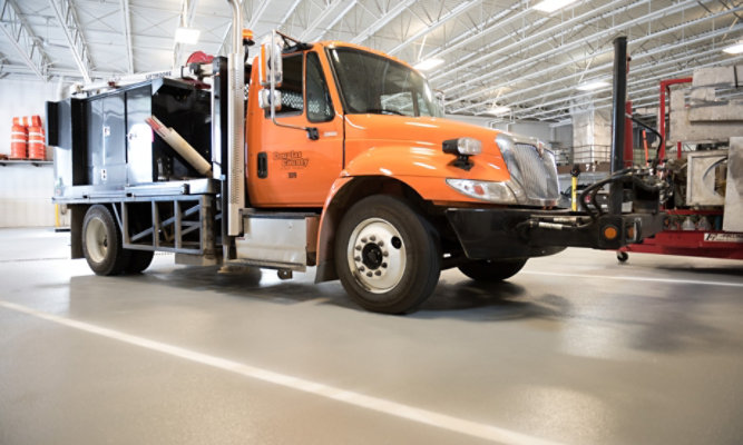 Epoxy Resin Flooring at Douglas County Public Works Facility