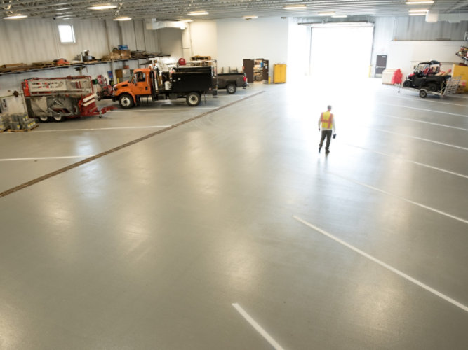 Resinous Flooring System in Douglas County Public Works facility