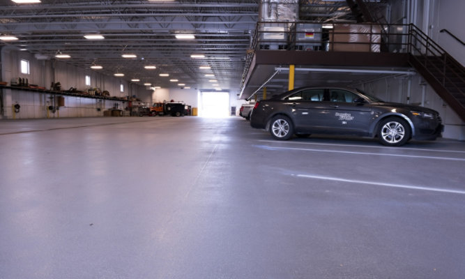 Resuflor 3561 Epoxy Floor at Douglas County Public Works
