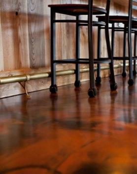 Resinous floor at a restaurant