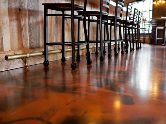 Restaurant Metallic Trafficote Floor