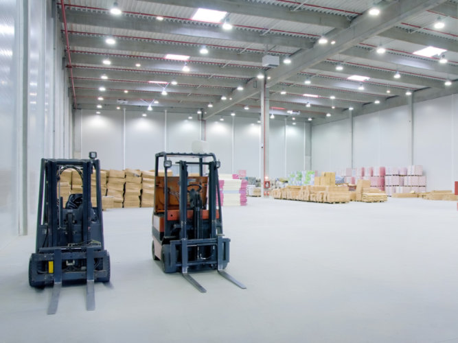 Manufacturing facility resinous flooring.