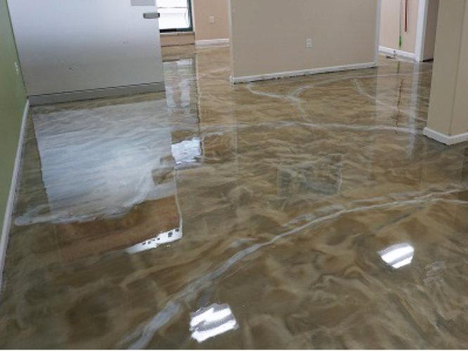 Educational facility resinous flooring