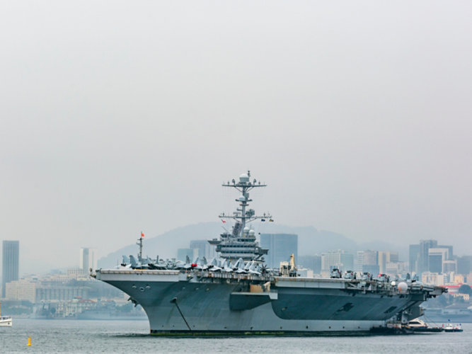 The USS George Washington aircraft carrier
