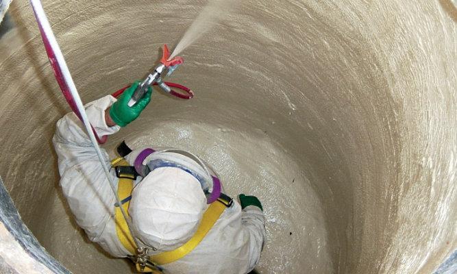 Manhole coating application