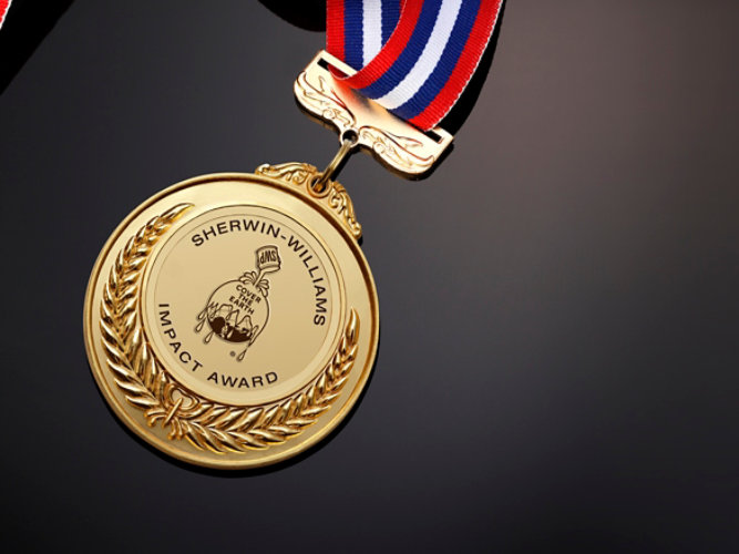 Sherwin-Williams Water and Wastewater Impact Award Medal