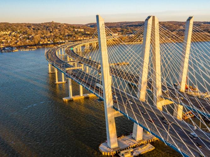 aerial view of Governor Mario M. Cuomo bridge