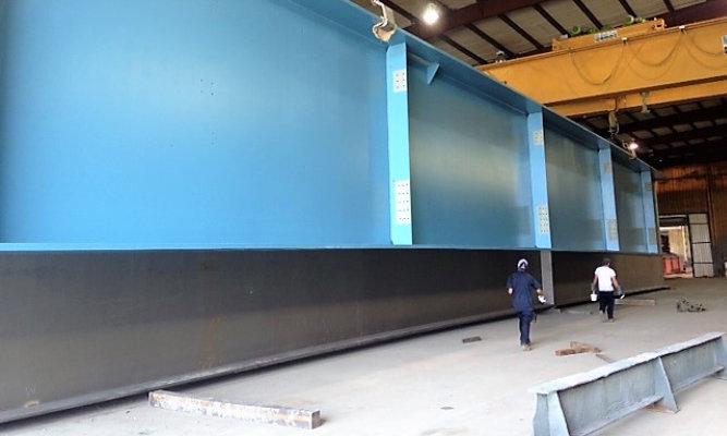 steel beam in shop