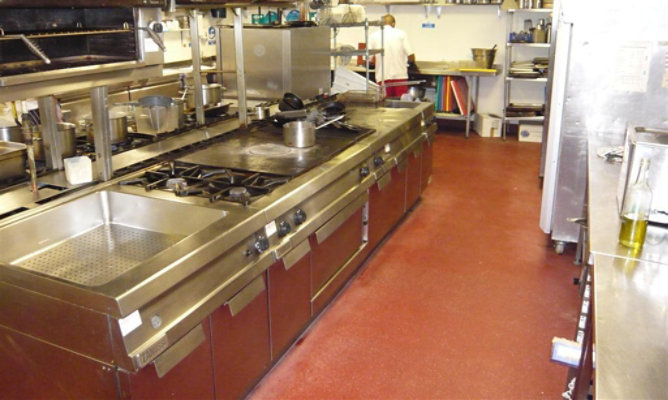 Food preperation area in a canteen