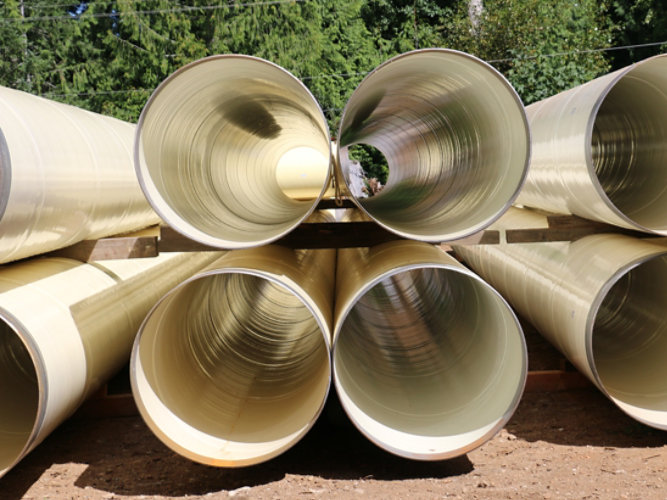 Comox Valley water transmission pipes
