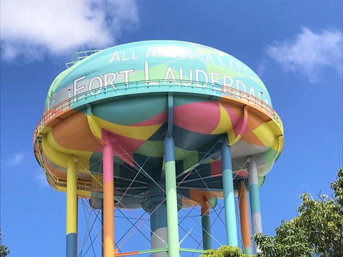 Fort Lauderdale elevated water storage tank
