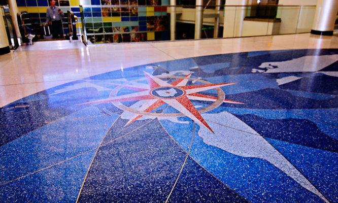 Terrazzo Floor in Shopping Mall