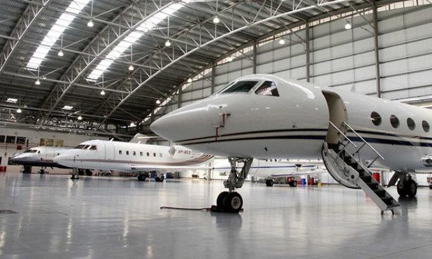 Resinous Floor in Aerospace Hangar