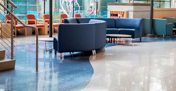 terrazzo floor at hospital
