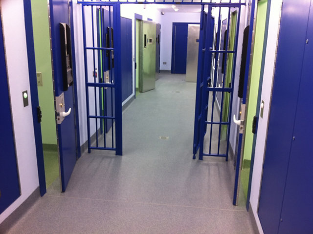 Resin Floor in Government Correctional Facility