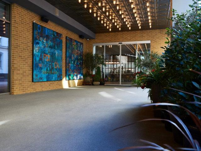 Resin Floor in Hotel Entry