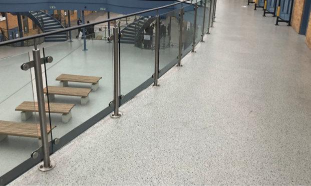 Resinous Floor School Atrium