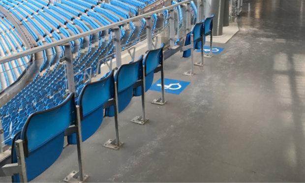 Resinous Floor in Stadium Concourse