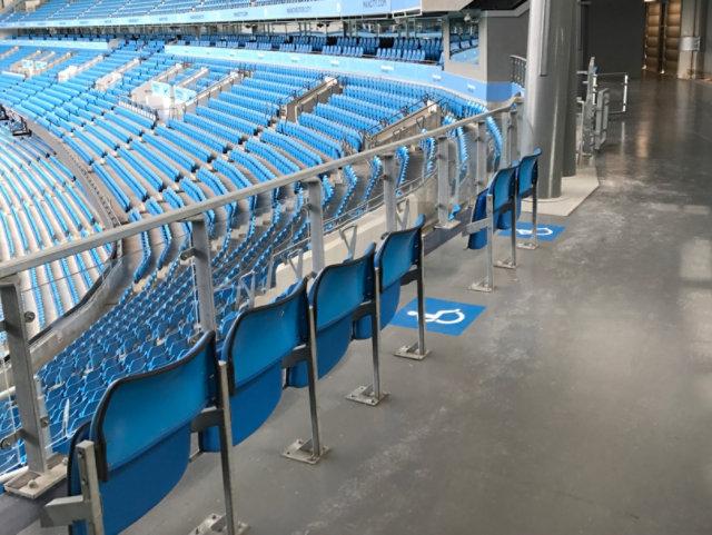 Resin Floor at Stadium Concourse