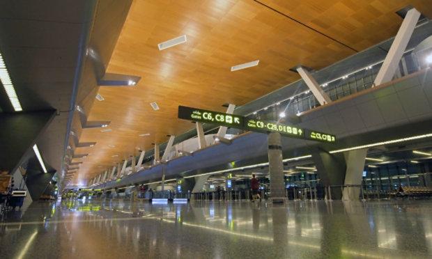 Resinous Floor in Airport Terminal