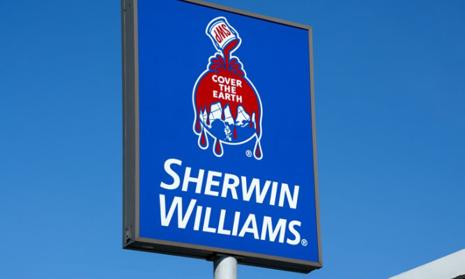 Sherwin-Williams sign