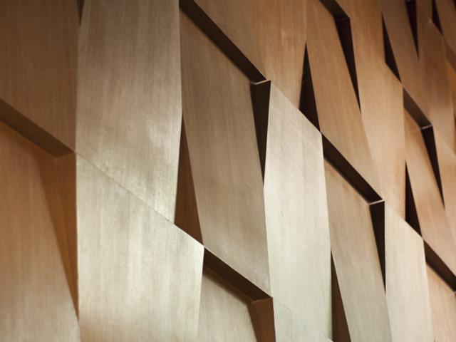 wood abstract wall